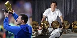 Không phải CR7, Messi mới là cầu thủ có nhiều bóng vàng nhất thế giới