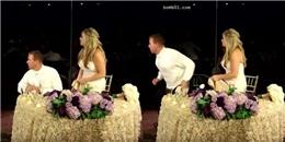 Giữa đám cưới, chú rể ghi điểm với cô dâu nhờ hành vi nghĩa hiệp