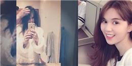 yan.vn - tin sao, ngôi sao - Ngọc Trinh khoe clip sấy tóc ở Mỹ, vô tình