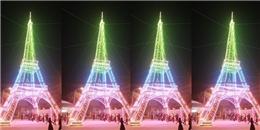 Cận cảnh 'tháp Eiffel xứ Nghệ' chào đón mùa Giáng sinh 2016