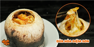 [Nhòm Nhèm] Tuyệt chiêu làm dừa hỏa diệm sơn đang  sốt xình xịch  ở Sài Gòn