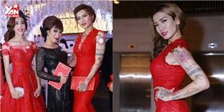 Cô nàng  BB Trần nóng bỏng suýt ngã trong đám cưới Trấn Thành