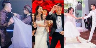 """Cặp vợ chồng sao Việt nào """"lầy"""" nhất trong đám cưới"""