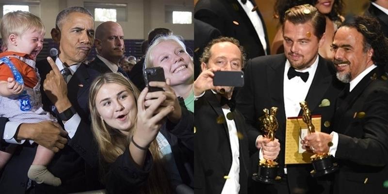 Nhìn lại 23 bức ảnh selfie nổi tiếng và ấn tượng nhất năm 2016
