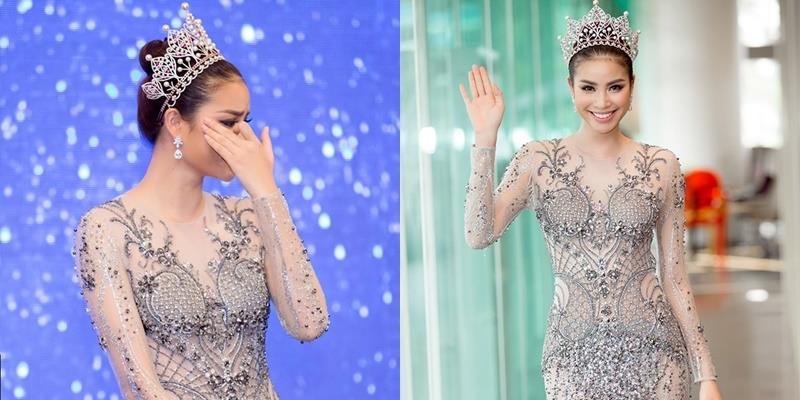 Phạm Hương rơi nước mắt nhớ lại hành trình dự thi Miss Universe 2015