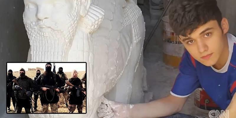 Chàng trai phục dựng những bức tượng bị IS phá huỷ