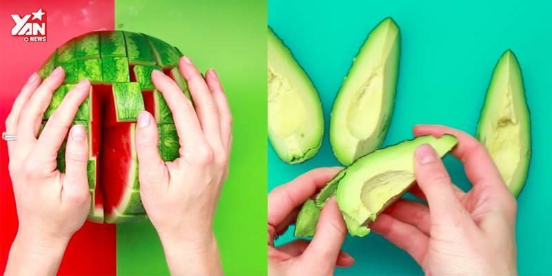 Mẹo cắt các loại trái cây cực nhanh chóng