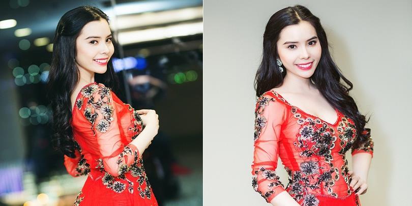 Á khôi Huỳnh Vy khoe vẻ đẹp ngọt ngào với bộ váy đỏ xuyên thấu