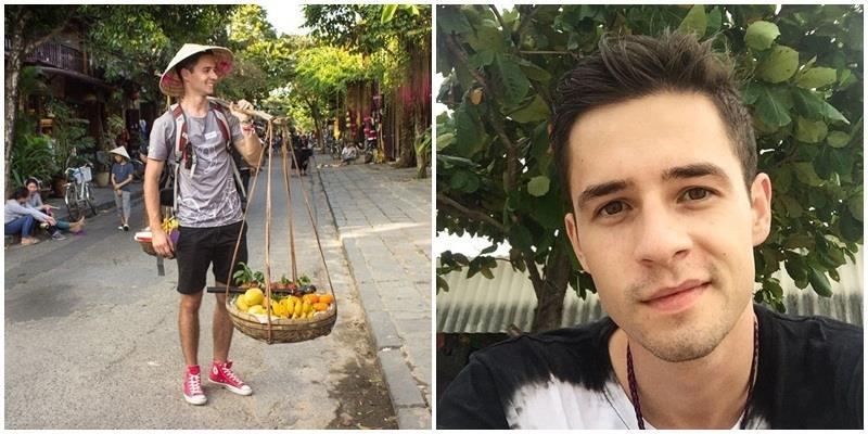"""Ngắm vẻ điển trai của chàng Tây """"bán chuối"""" bỗng """"hot"""" khắp Việt Nam"""