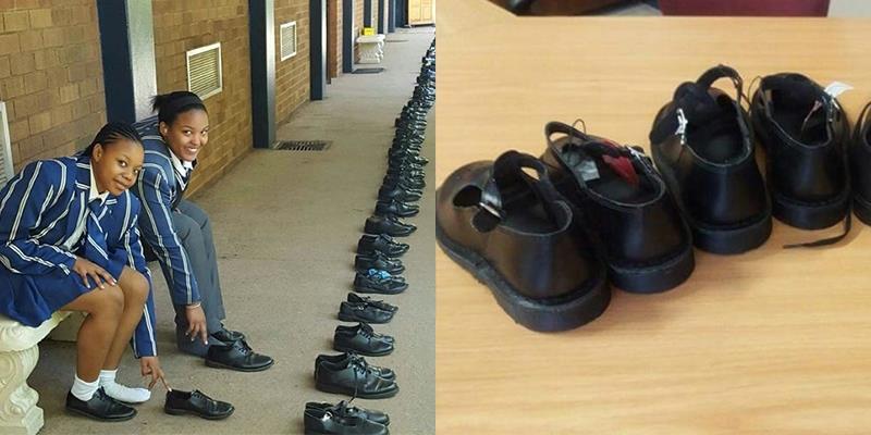 Ấn tượng học sinh tốt nghiệp tặng lại giày cũ cho lớp dưới