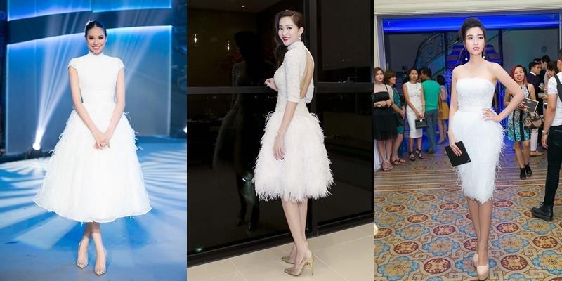 """Hoa hậu Việt đọ váy lông vũ: Ai xứng danh """"thiên nga chúa""""?"""
