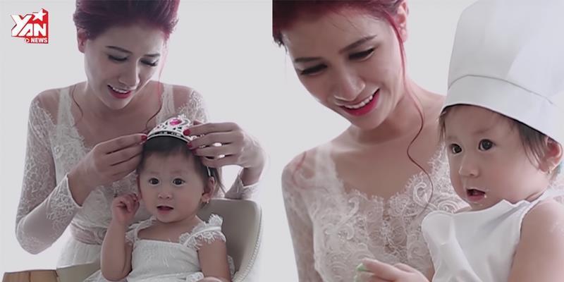 Trang Trần khoe con gái cưng trong đoạn clip cực đáng yêu