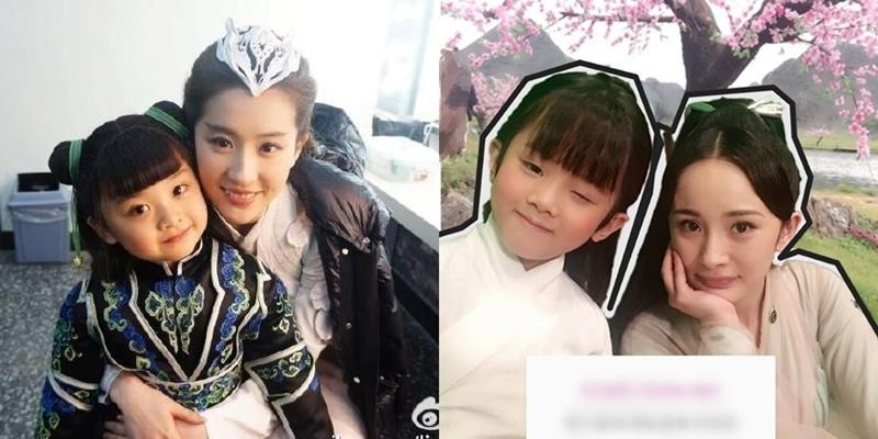 """Đến lượt nhan sắc """"con trai"""" Lưu Diệc Phi và Dương Mịch bị fan so sánh"""