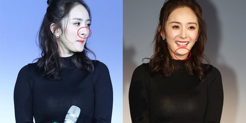 yan.vn - tin sao, ngôi sao - Dân mạng tranh cãi vì Dương Mịch lộ nội y, cằm giả mũi giả dự sự kiện