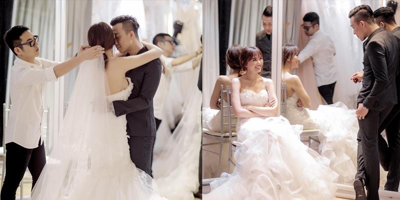yan.vn - tin sao, ngôi sao - Hé lộ ảnh hậu trường Hari Won và Trấn Thành trong buổi chụp hình cưới