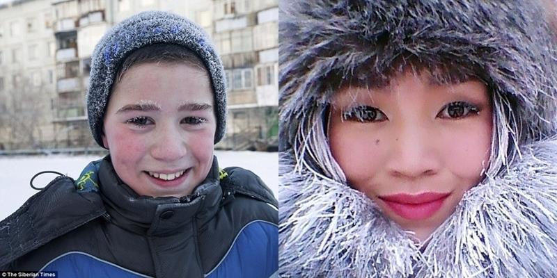 """Học sinh tại Nga """"đóng băng"""" khi tới trường trong nhiệt độ -53 độ C"""
