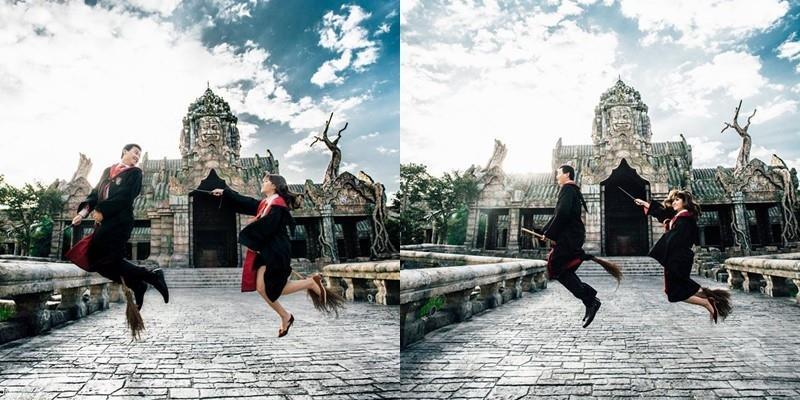 Độc đáo bộ ảnh cưới Harry Potter của cặp đôi Đà Nẵng
