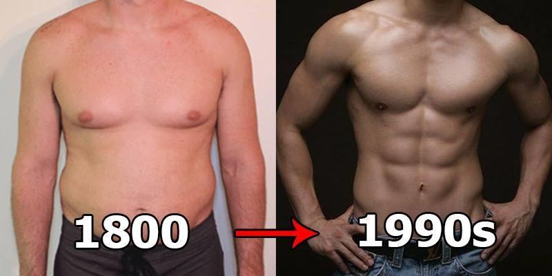 Chuẩn cơ thể đẹp của đàn ông thay đổi như thế nào sau 150 năm?