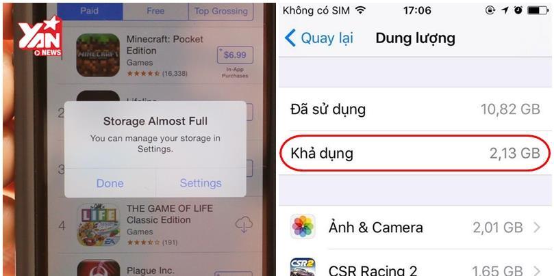 Mẹo lấy lại bộ nhớ trống iPhone mà không cần phải xóa gì cả