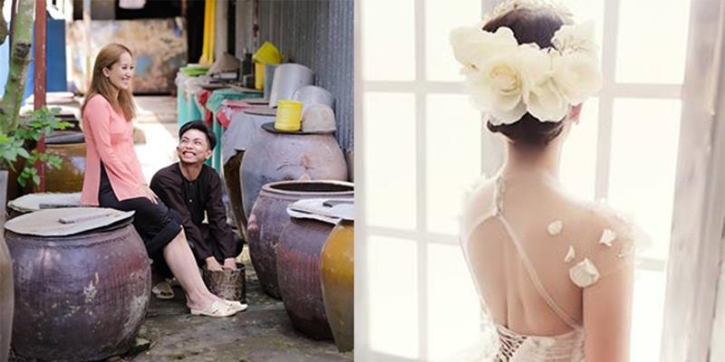 yan.vn - tin sao, ngôi sao - Phan Hiển hạnh phúc hé lộ bức ảnh Khánh Thi xinh đẹp trong váy cưới