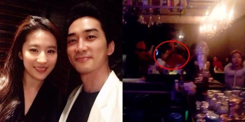 Lộ ảnh Lưu Diệc Phi đón Giáng Sinh cùng Song Seung Hun tại hộp đêm