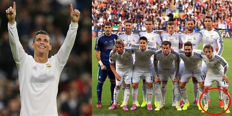 """Vạch trần """"tiểu xảo"""" của Ronaldo mỗi khi chụp ảnh cùng đội tuyển"""