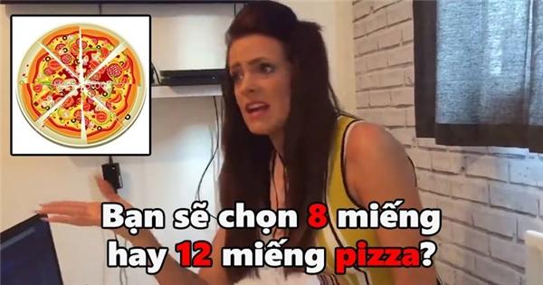 Chàng trai khóc hận vì bắt người yêu chọn pizza 8 hay 12 miếng