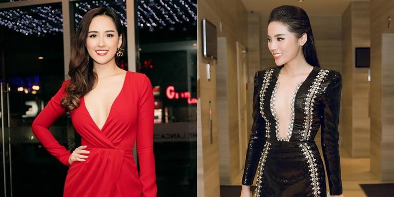"""""""Bỏng mắt"""" với những chiếc váy xẻ sâu tận rốn của mỹ nhân Việt"""