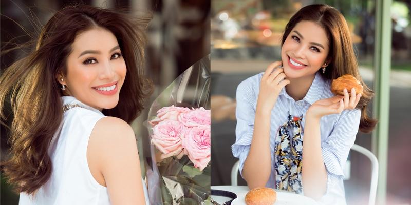 'Rụng rời' trước nhan sắc mĩ miều của Hoa hậu Hoàn vũ Phạm Hương