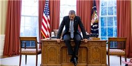 Bức ảnh về khoảnh khắc suy tư của ông Obama ở Nhà Trắng gây sốt