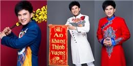 Đan Trường diện áo dài trẻ trung đón Tết khiến fans thích thú