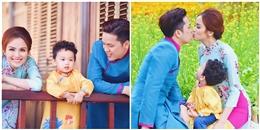 Con trai 'ghen' khi vợ chồng Hoa hậu Diễm Hương hôn nhau