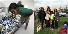 Ngưỡng mộ cô bé 9 tuổi có tấm lòng vàng với người vô gia cư