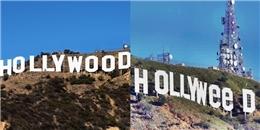 Chơi khăm oái oăm: Tấm biển 'HOLLYWOOD' bị đổi thành 'HOLLYWEED'