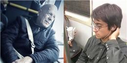 """Khi """"người nổi tiếng"""" cũng lê la tàu điện ngầm như ai"""