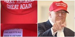 Mũ đỏ trong chiến dịch của ông Trump được sản xuất tại… Việt Nam?