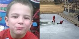 Đau lòng phát hiện thi thể bé trai dưới ao nước đóng băng