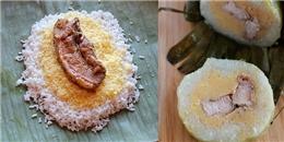 Cách gói bánh tét nhân thịt đậu xanh cho ngày Tết sum vầy