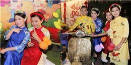 Phi Nhung háo hức dẫn các con nuôi dạo phố ông đồ trước thềm năm mới