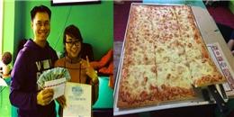 Nữ thực khách phá kỉ lục với 37 phút 'chén gọn' pizza cỡ khủng