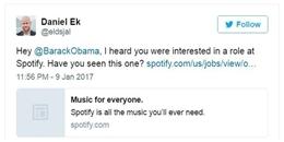 Rời nhà Trắng, ông Obama sẽ 'đầu quân' cho công ty âm nhạc?