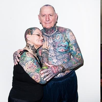 """Chỉ 1 từ """"chất"""" dành cho đôi vợ chồng già mê xăm trổ nhất thế giới"""