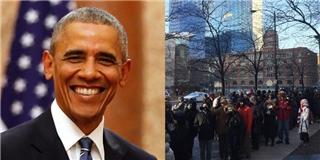 Bất chấp thời tiết lạnh giá, người dân Mỹ xếp hàng chia tay Obama