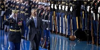 Sự cố xảy ra ngay giữa buổi lễ từ biệt của ông Obama