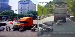 Camera ghi những pha thoát chết hy hữu sau tai nạn