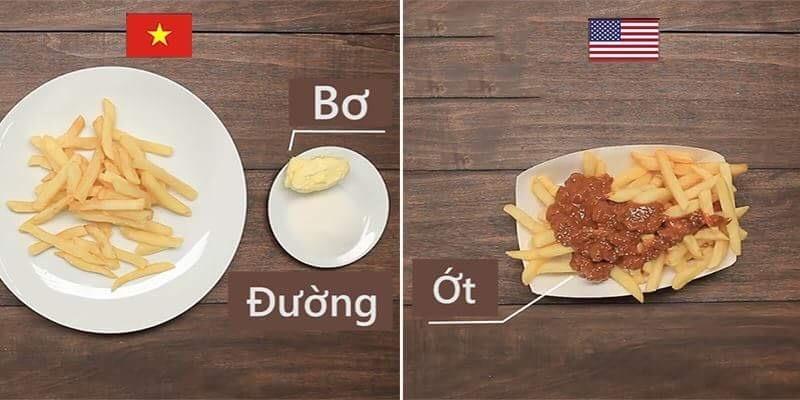 Lạ lẫm với cách ăn khoai tây chiên của các nước trên thế giới