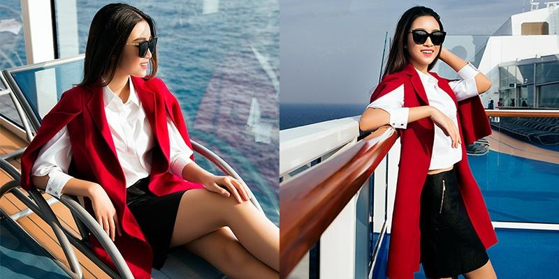 """Đỗ Mỹ Linh khoe """"dáng ngọt"""", đón nắng rực rỡ trên du thuyền triệu đô"""