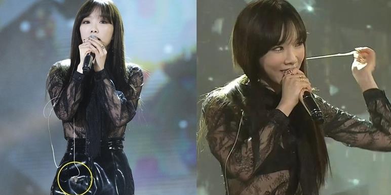 """Taeyeon """"gây sốt"""" với màn chỉnh mic quá điệu nghệ"""