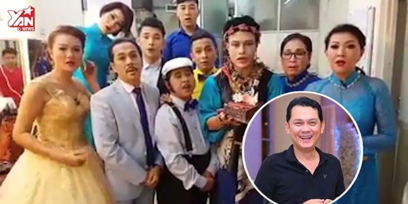 """""""500 anh em"""" nghệ sĩ hát mừng sinh nhật Hữu Châu cực bá đạo"""