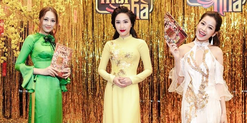 Bảo Thy, Bảo Anh, Chi Pu hóa nàng xuân với áo dài điệu đà